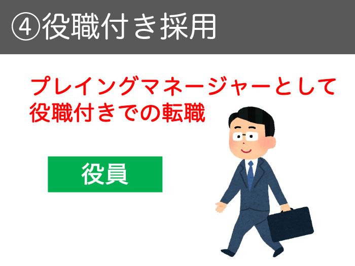 ④役職付き採用