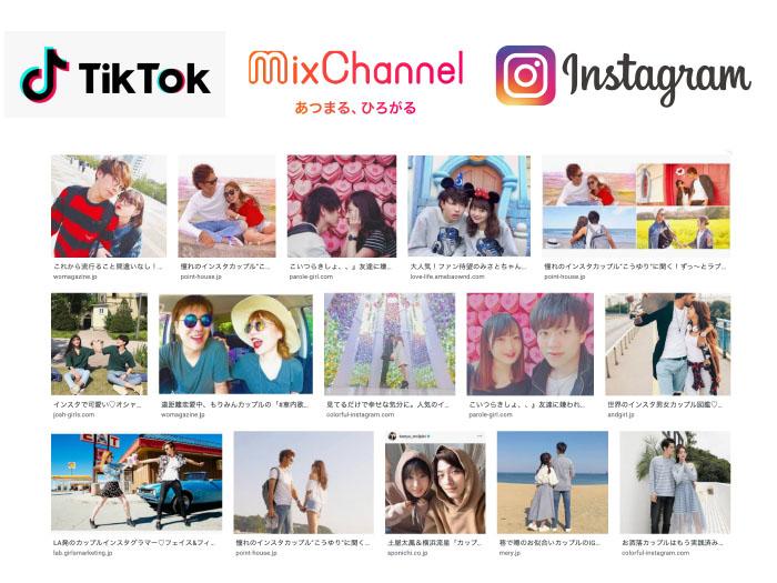 Instagram、TikTok、MixChannel
