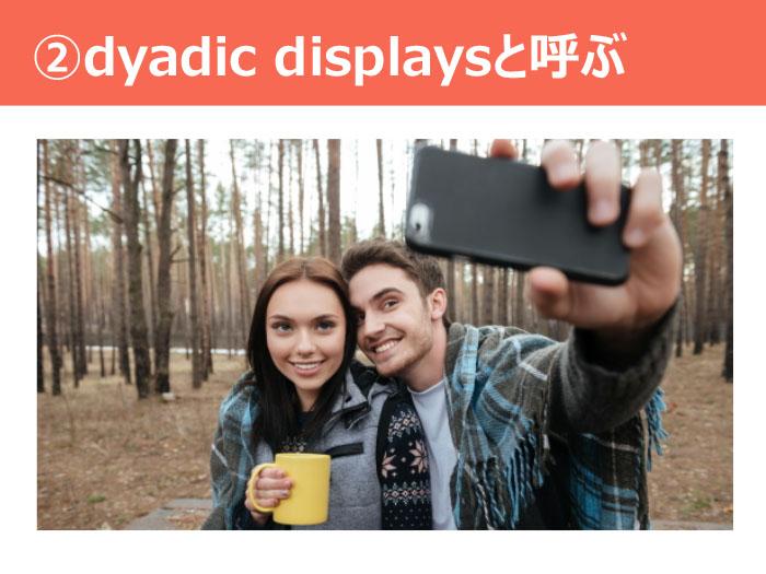 ②dyadic displaysと呼ぶ