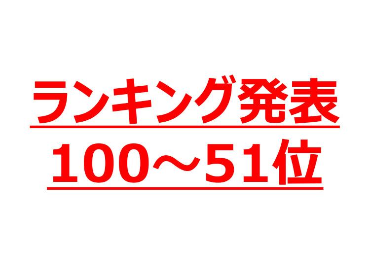 ランキング発表100~51位