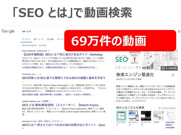 「SEOとは」で動画検索