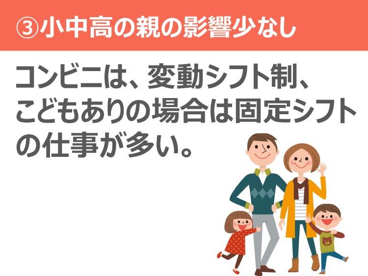 ③小中高の親の影響少なし
