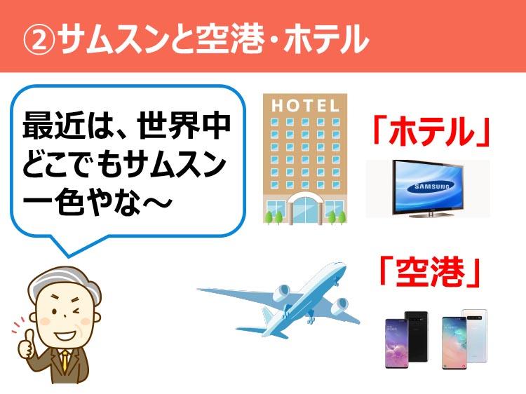 ②サムスンと空港・ホテル