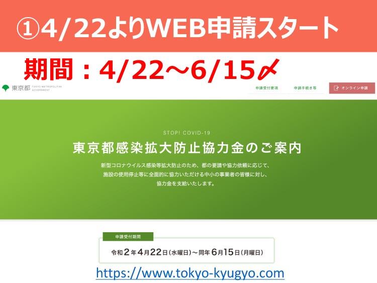 ①4/22よりWEB申請スタート