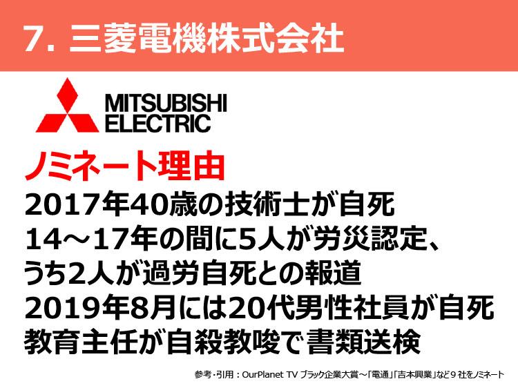 7.三菱電機株式会社