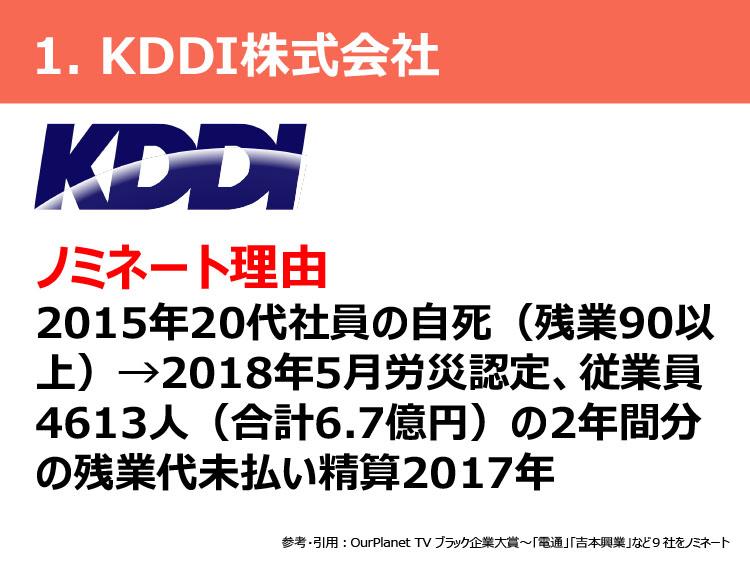 1.KDDI株式会社