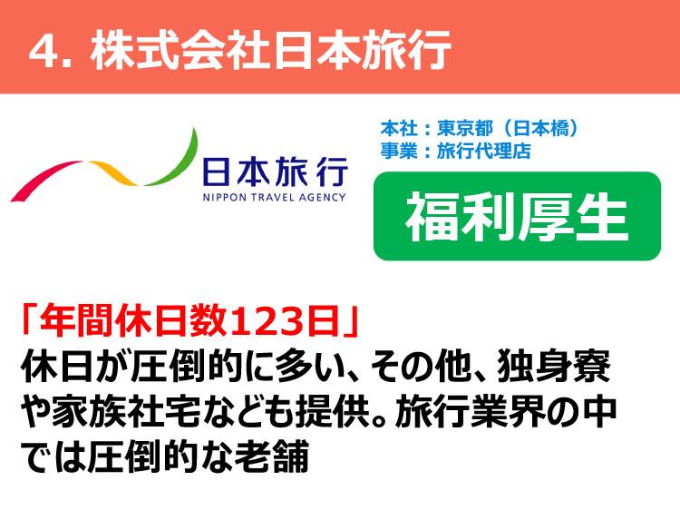 4.株式会社日本旅行