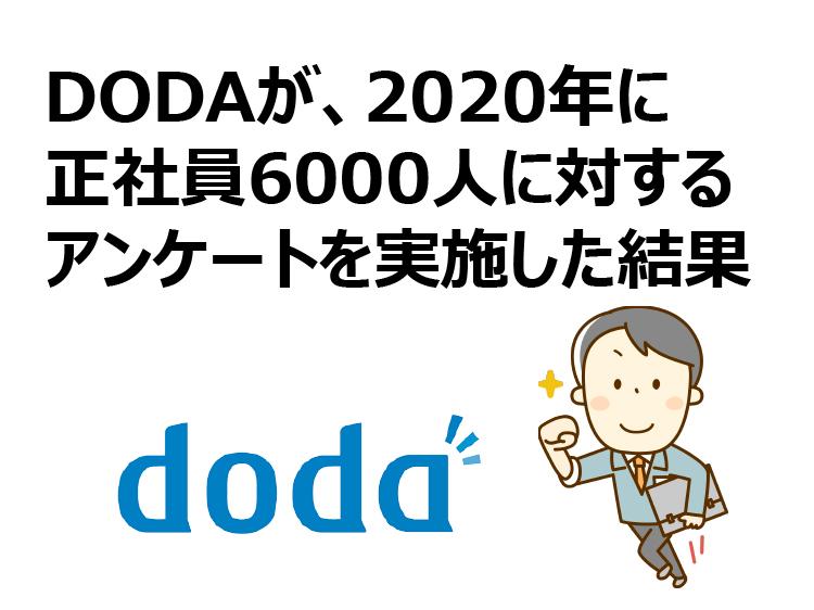 DODAが、2020年に正社員6000人に対するアンケートを実施した結果